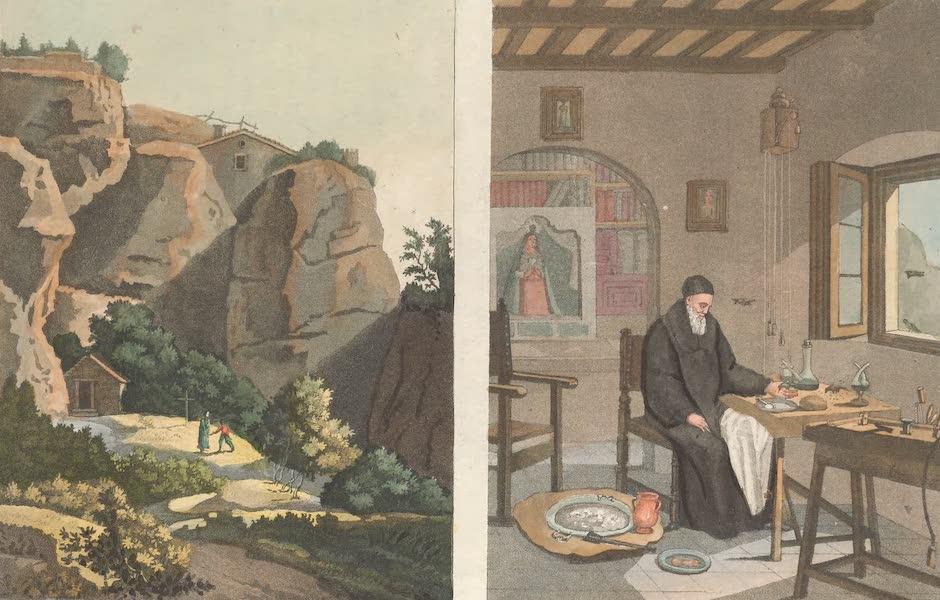 Le Costume Ancien et Moderne [Europe] Vol. 5 - XIX. Deux vues de l'hermitage de Monserrat  (1825)