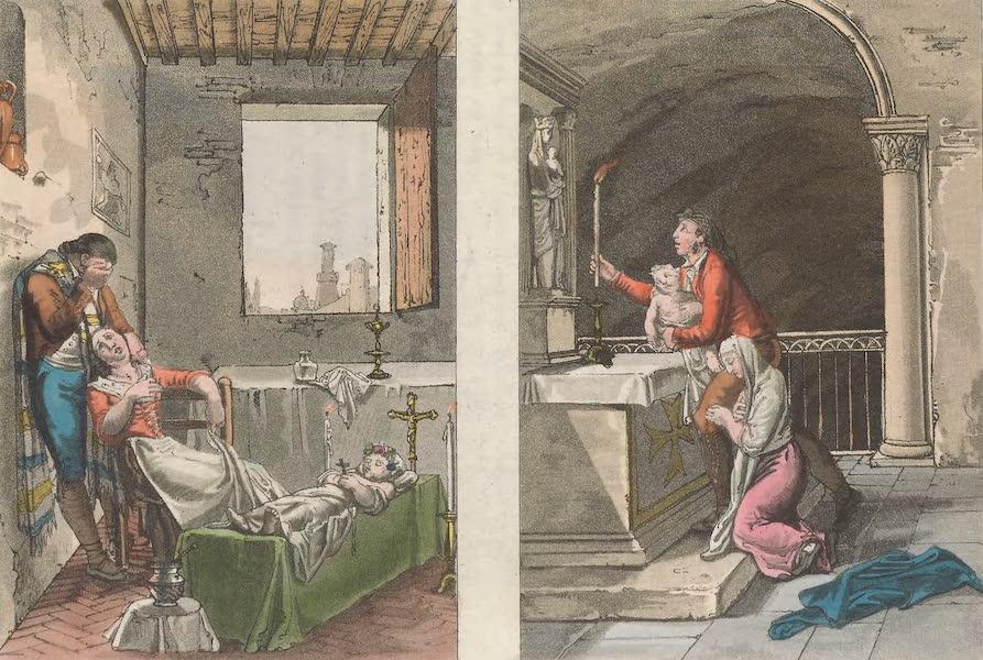 Le Costume Ancien et Moderne [Europe] Vol. 5 - XX. Offrande a la Madone de Guadalupa etc. (1825)