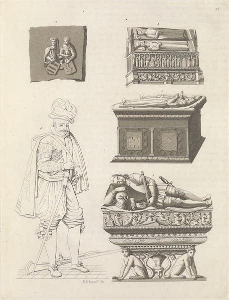 Le Costume Ancien et Moderne [Europe] Vol. 5 - XXVI. Tombeau et simulacre du Cid et de Ximene Diaz son epouse (1825)