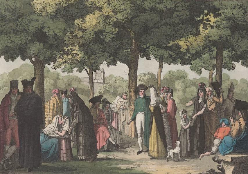 Le Costume Ancien et Moderne [Europe] Vol. 5 - XXX. Promenade de l'Esplanade a Barcelone (1825)