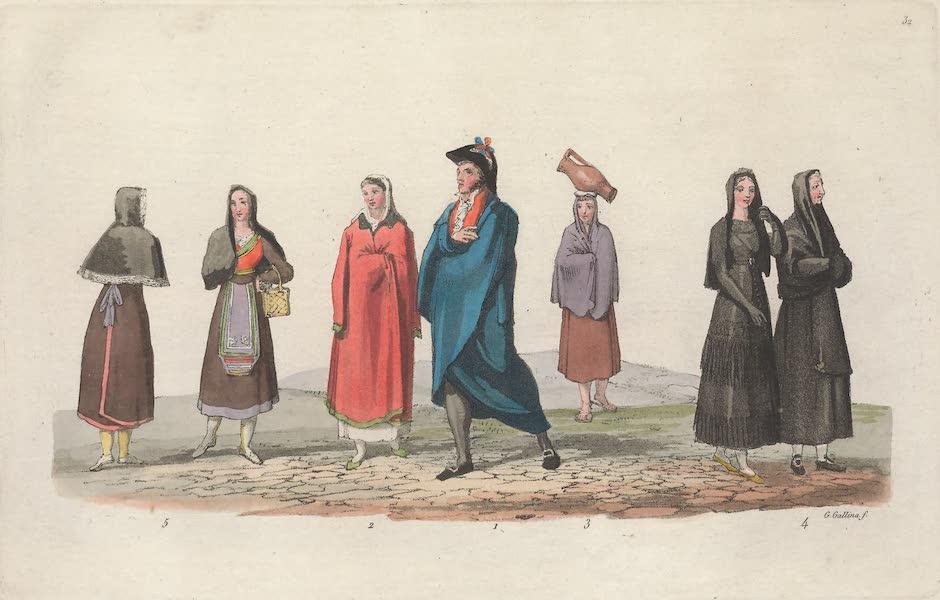 Le Costume Ancien et Moderne [Europe] Vol. 5 - XXXII. Portugais et Espagnols dans leur costume particulier (1825)