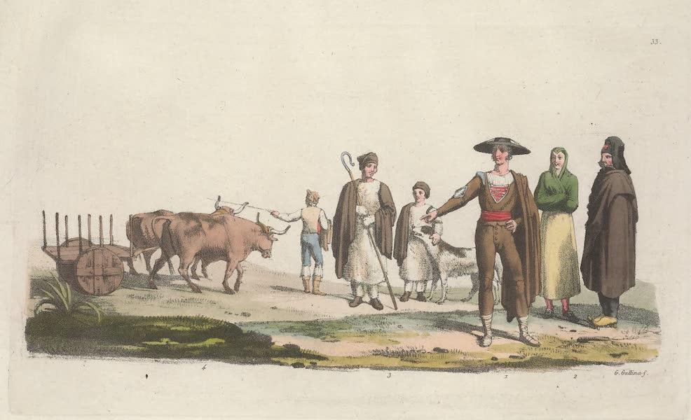 Le Costume Ancien et Moderne [Europe] Vol. 5 - XXXIII. Paysans et patres Espagnols et Portugais (1825)
