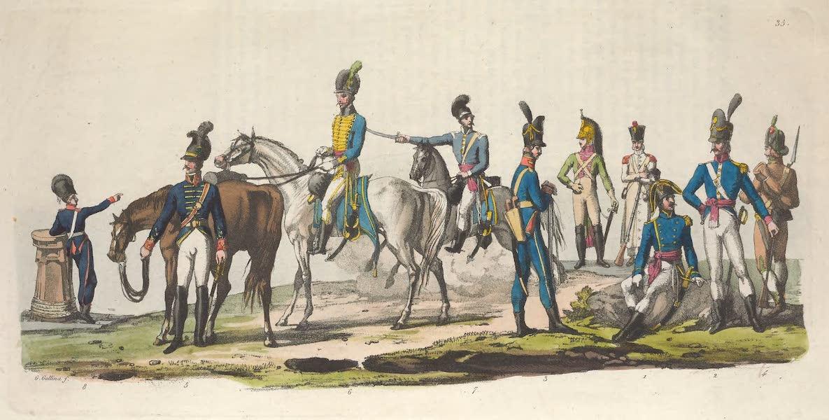 Le Costume Ancien et Moderne [Europe] Vol. 5 - XXXV. Soldats Espagnols et Portugais [II] (1825)