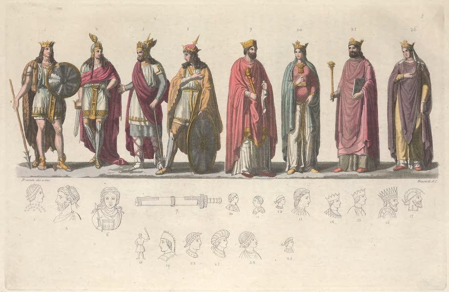 Le Costume Ancien et Moderne [Europe] Vol. 5 - III. Pharamond, Clodion, Merovee, Clovis, Clotilde etc. (1825)