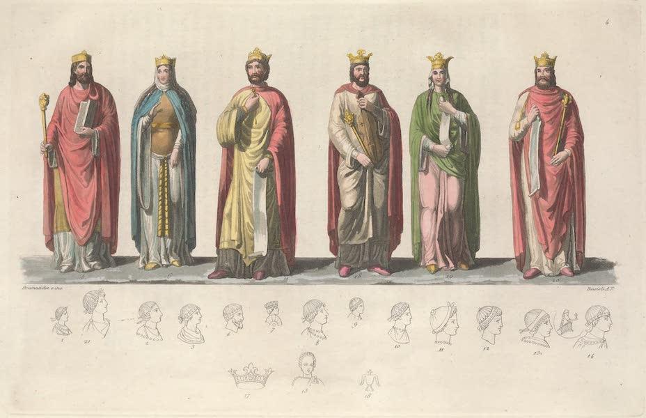 Le Costume Ancien et Moderne [Europe] Vol. 5 - IV. Clotaire, Aregonde, Theodobert, Caribert, etc. (1825)
