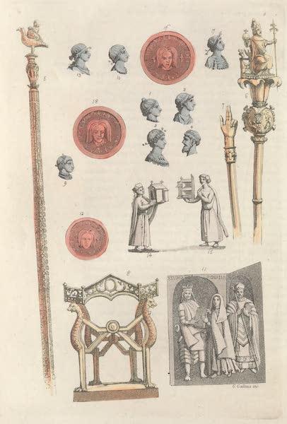Le Costume Ancien et Moderne [Europe] Vol. 5 - V. Dagobert, Clovis II, Bathilde, Clotaire III, Childeric III (1825)