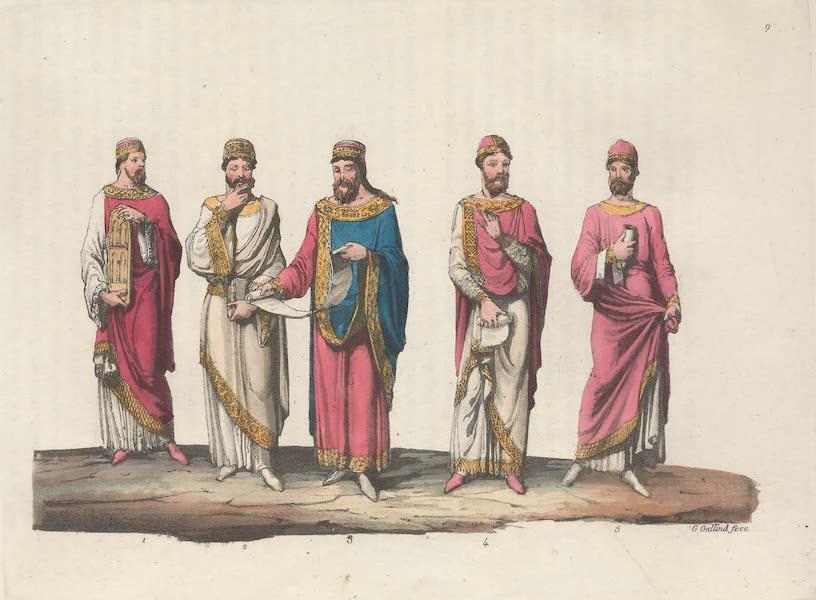 Le Costume Ancien et Moderne [Europe] Vol. 5 - IX. Childebert, Dagobert II, Chilperic II, Thierry II, etc. (1825)