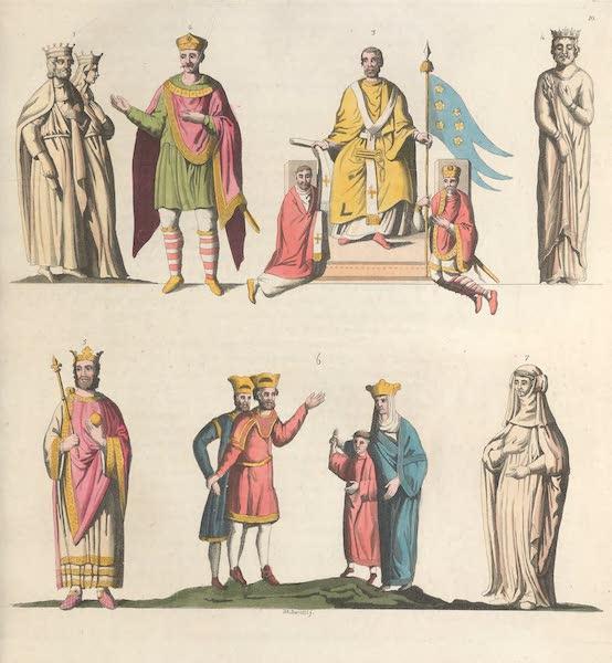 Le Costume Ancien et Moderne [Europe] Vol. 5 - X. Pepin, Charlemagne, Louis-le-Bon (1825)