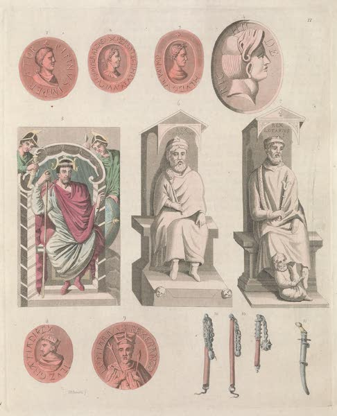 Le Costume Ancien et Moderne [Europe] Vol. 5 - XI. Charles-le-Chanye, Lothaire, Louis d'Outremer, etc. (1825)