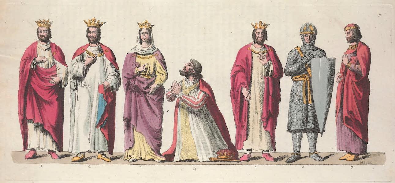 Le Costume Ancien et Moderne [Europe] Vol. 5 - XII. Costume de Hugues Gapet, de Robert, de Constance etc. (1825)