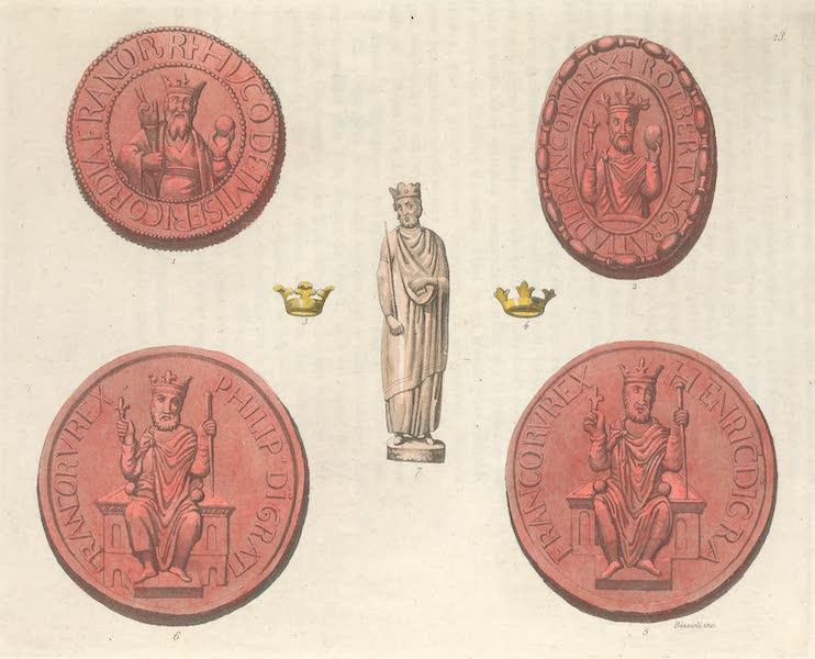 Le Costume Ancien et Moderne [Europe] Vol. 5 - XIII. Costume des memes personnages sur leurs sceaux (1825)