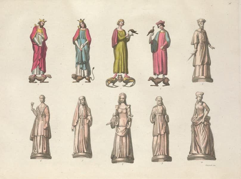 Le Costume Ancien et Moderne [Europe] Vol. 5 - XVI. Figures representant Guillaume-le-Conquerant, Mathilde son epouse, et leurs enfans (1825)