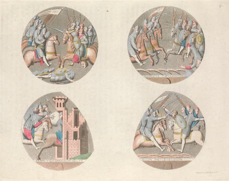 Le Costume Ancien et Moderne [Europe] Vol. 5 - XVII. Vitrages peints, representant des Croises (1825)