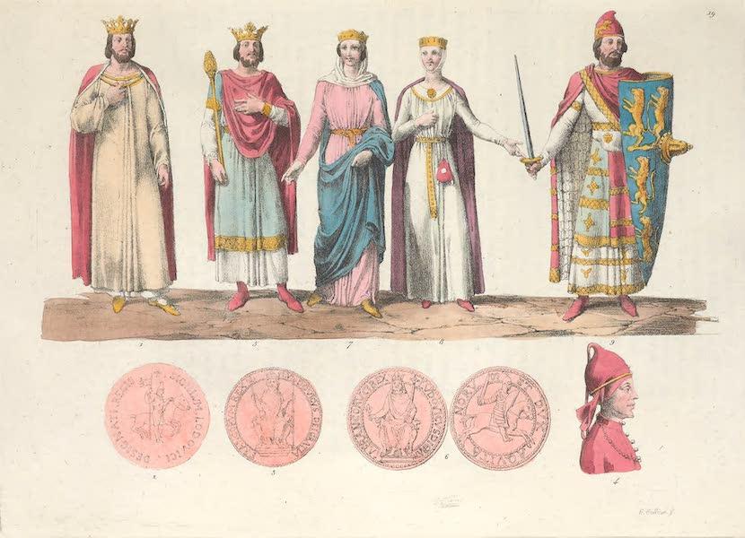 Le Costume Ancien et Moderne [Europe] Vol. 5 - XIX. Costume de Louis-le-Gros, de Charles-le-Bon etc. (1825)