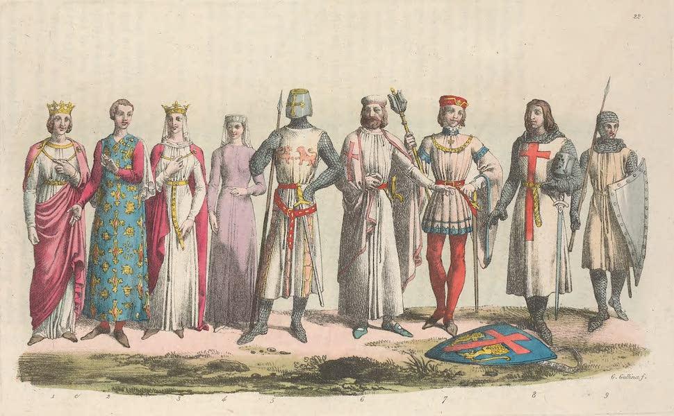 Le Costume Ancien et Moderne [Europe] Vol. 5 - XXII. Philippe-le-Hardi, Isabelle d'Arragon, Yolande etc. (1825)