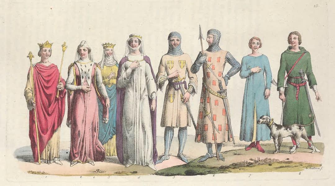 Le Costume Ancien et Moderne [Europe] Vol. 5 - XXIII. Philippe-le-Bel, Jeanne de Navarre, Marguerite d'Artois (1825)