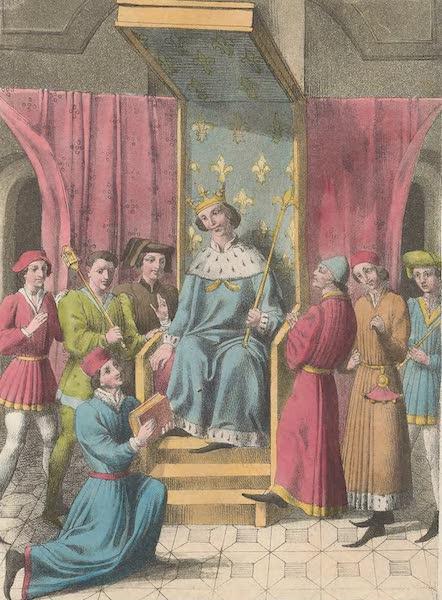 Le Costume Ancien et Moderne [Europe] Vol. 5 - XXIV. Jean de Mehun presentant au roi Philippe-le-Bel sa traduction du livre de la Consolation de Boece etc. (1825)