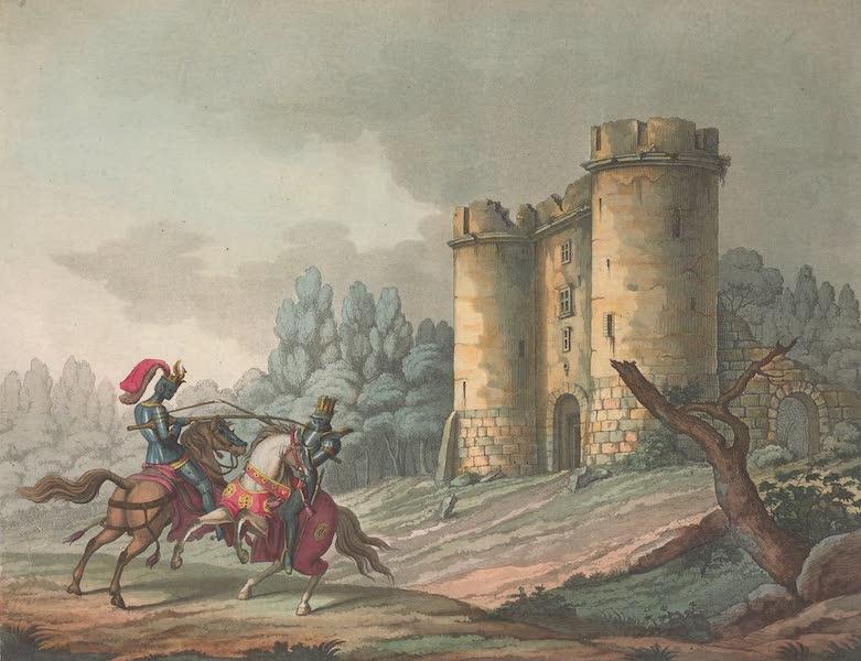 Le Costume Ancien et Moderne [Europe] Vol. 5 - XXV. Vue du chateau de Tancarville etc. (1825)