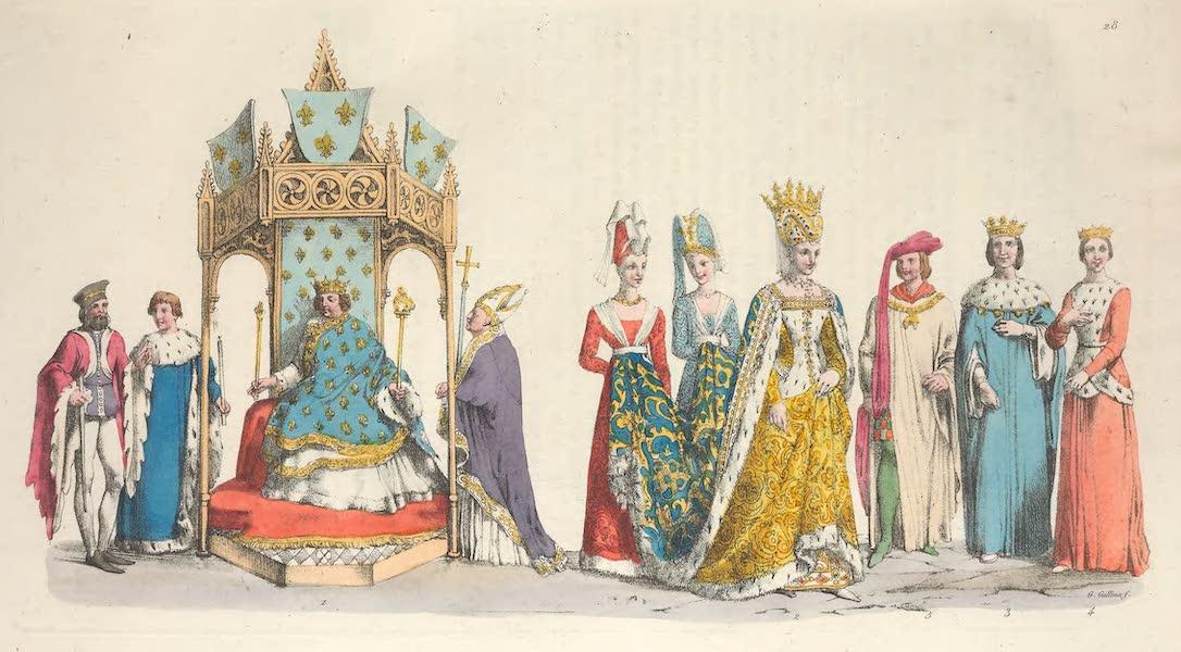 Le Costume Ancien et Moderne [Europe] Vol. 5 - XXVIII. Sacre de Charles VI, Isabelle de Baviere etc. (1825)