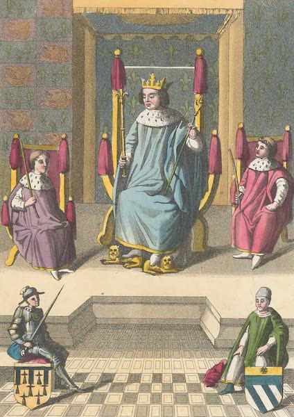 Le Costume Ancien et Moderne [Europe] Vol. 5 - XXIX. Charles VII sur son trone etc. (1825)