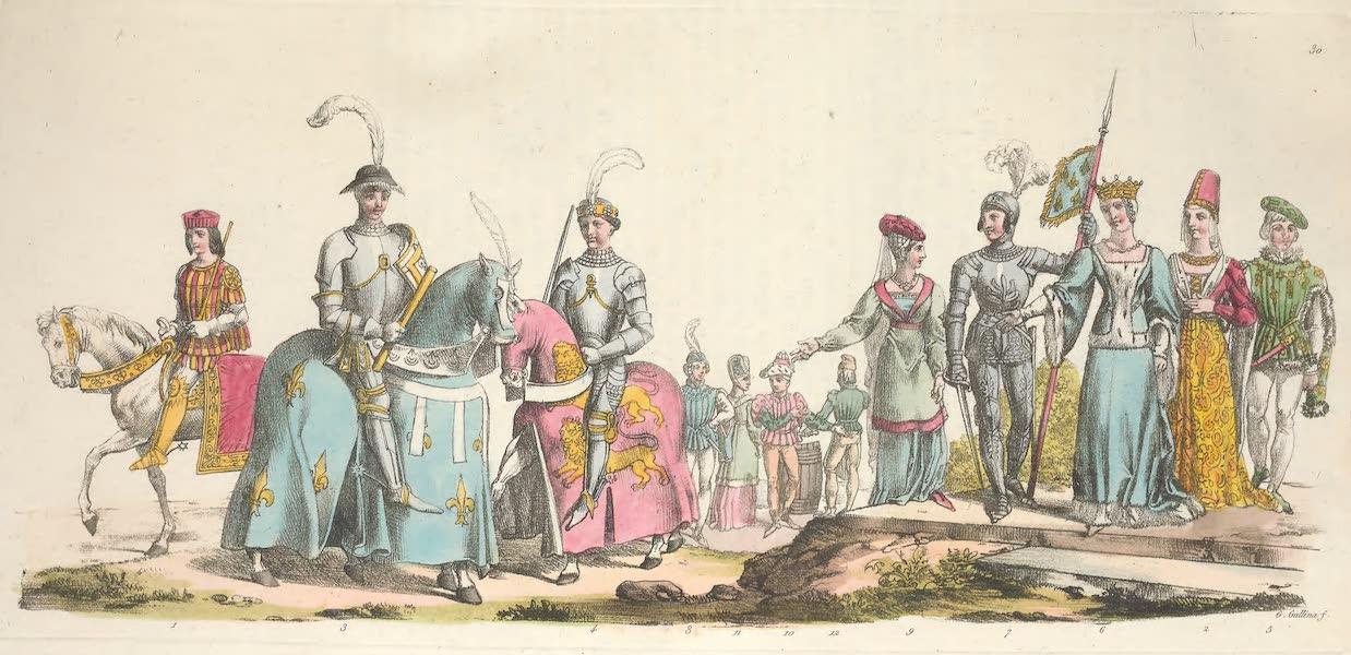 Le Costume Ancien et Moderne [Europe] Vol. 5 - XXX. Marie d'Anjou, Jean d'Orleans, Charles de France (1825)