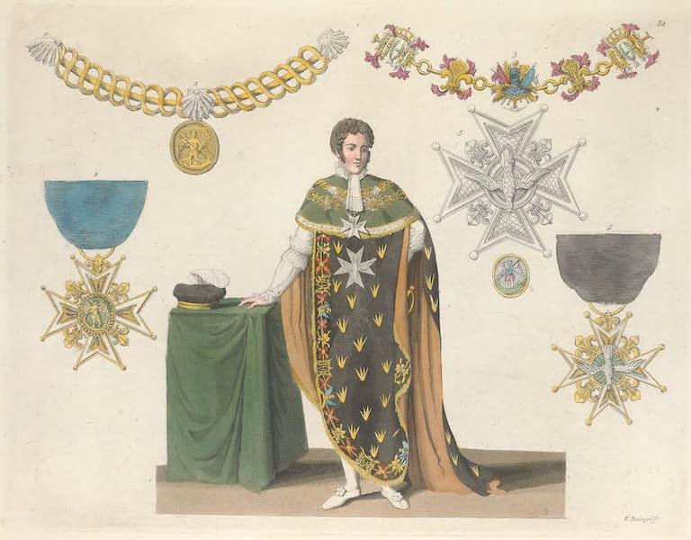 Le Costume Ancien et Moderne [Europe] Vol. 5 - XXXI. Ordres de chevalerie : de Saint-Michel, du Saint-Esprit etc. (1825)
