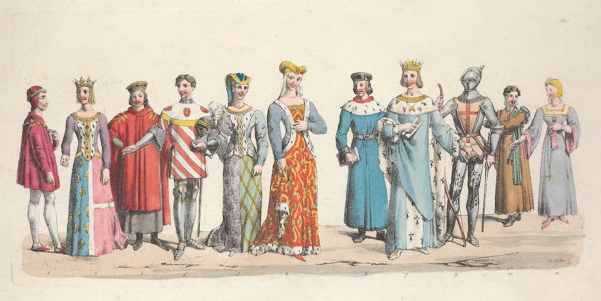 Le Costume Ancien et Moderne [Europe] Vol. 5 - XXXII. Louis XI, Charlotte de Savoie, Juvenal des Ursins etc. (1825)