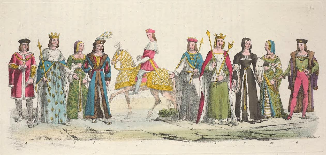 Le Costume Ancien et Moderne [Europe] Vol. 5 - XXXIII. Charles VIII, Louis XII, Anne de Bretagne etc. (1825)