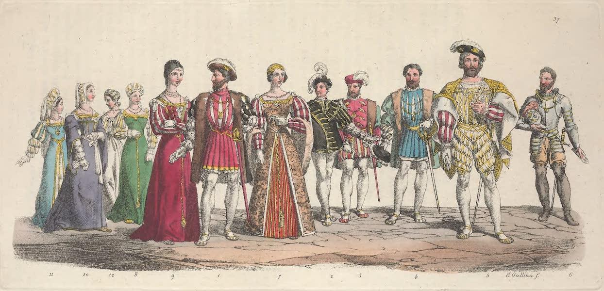 Le Costume Ancien et Moderne [Europe] Vol. 5 - XXXVII. Francois I., Francois Dauphin, Philippe de Chalot etc. (1825)
