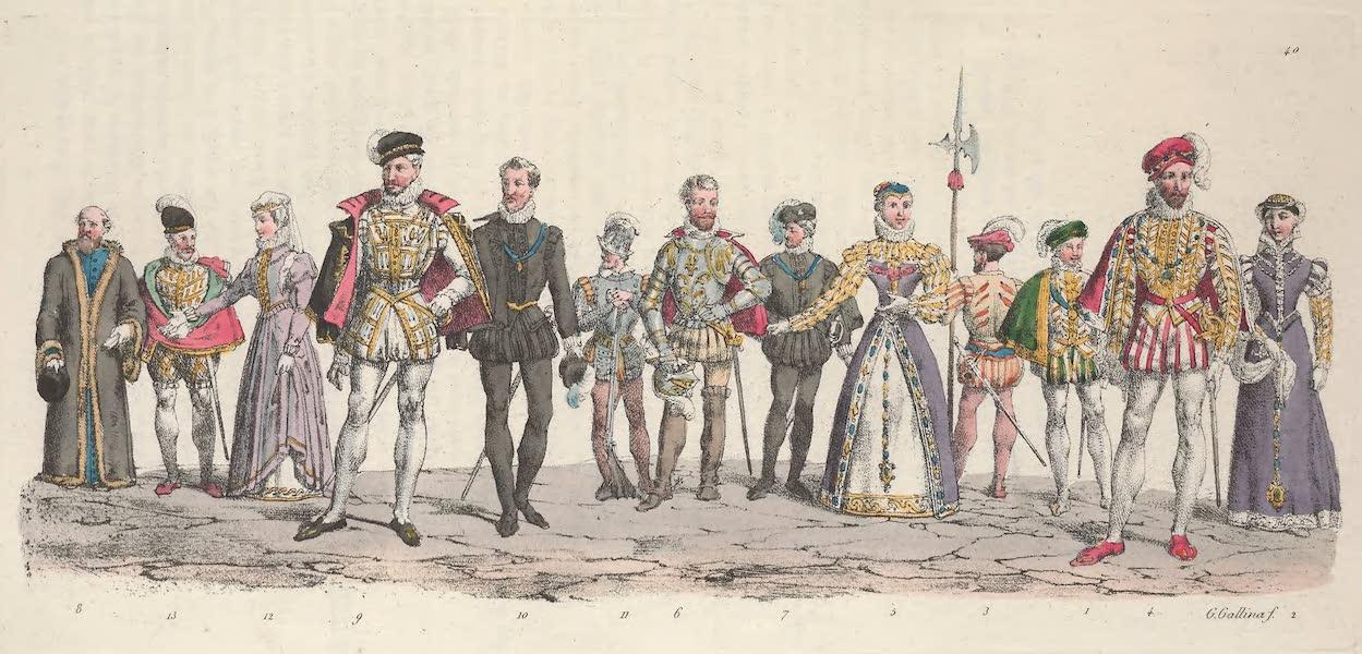 Le Costume Ancien et Moderne [Europe] Vol. 5 - XL. Francois II, Marie Stuart etc. (1825)