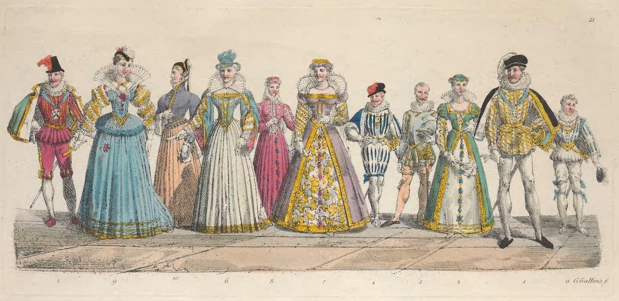 Le Costume Ancien et Moderne [Europe] Vol. 5 - XLI. Henry III, Louise de Lorraine, Francois duc d'Alencon etc. (1825)
