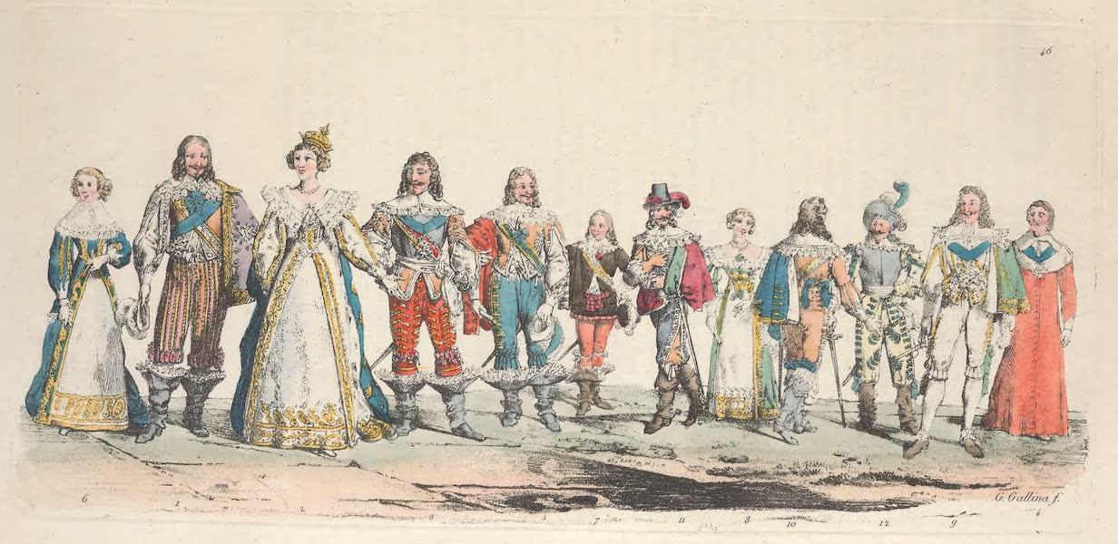 Le Costume Ancien et Moderne [Europe] Vol. 5 - XLVI. Louis XIII, Anne d'Autriche etc. (1825)