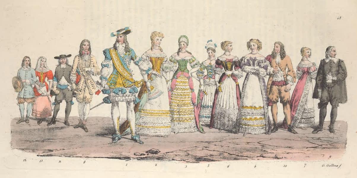 Le Costume Ancien et Moderne [Europe] Vol. 5 - XLVIII. Louis Dauphin, Marie Anne Dauphine, Francois Marie de Bourbon etc. (1825)