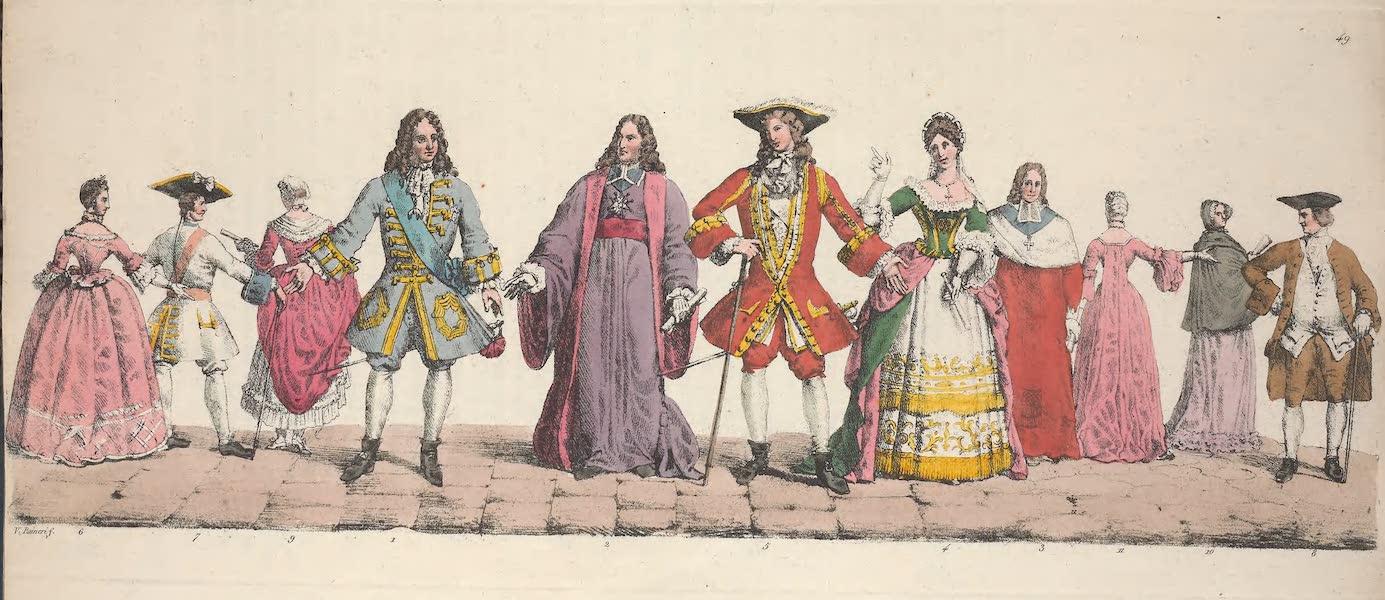 Le Costume Ancien et Moderne [Europe] Vol. 5 - XLIX. Philippe II duc d'Orleans, le chancellier d'Aguesseau, le cardinal Dubois etc. (1825)
