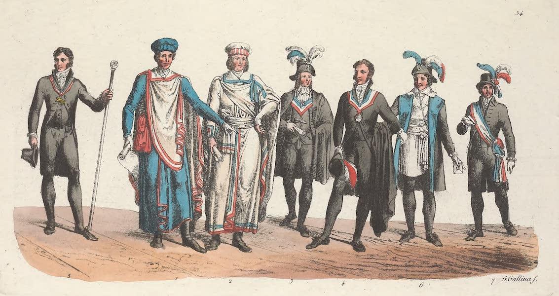 Le Costume Ancien et Moderne [Europe] Vol. 5 - LIV. Membres de la haute cour de justice etc. (1825)