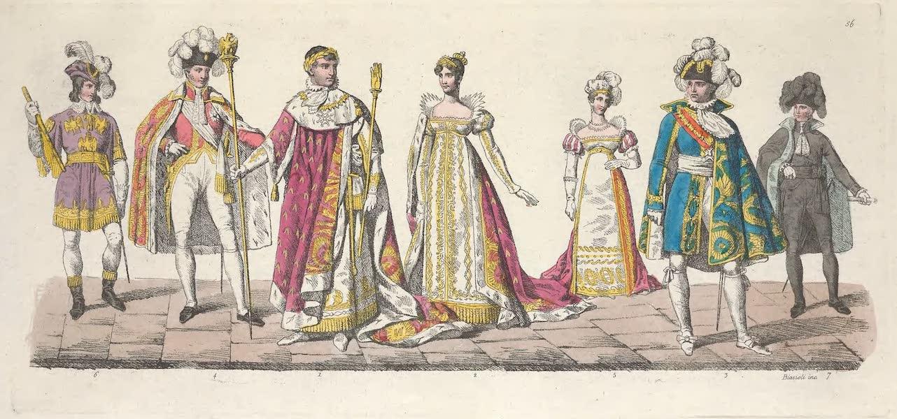 Le Costume Ancien et Moderne [Europe] Vol. 5 - LVI. Costume de l'Empereur, de l'Imperatrice, du grand Chambellan etc. (1825)