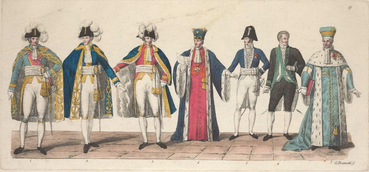Le Costume Ancien et Moderne [Europe] Vol. 5 - LVII. Costume des ministres, des membres du Senat etc. (1825)