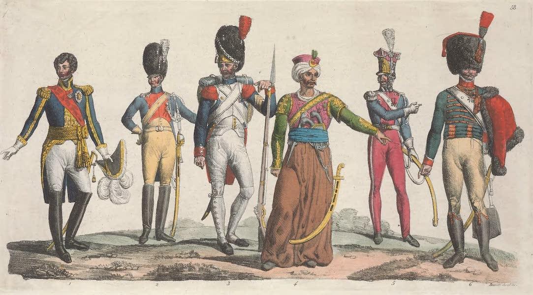 Le Costume Ancien et Moderne [Europe] Vol. 5 - LVIII. Un marechal, un gendarme, un grenadier etc. (1825)