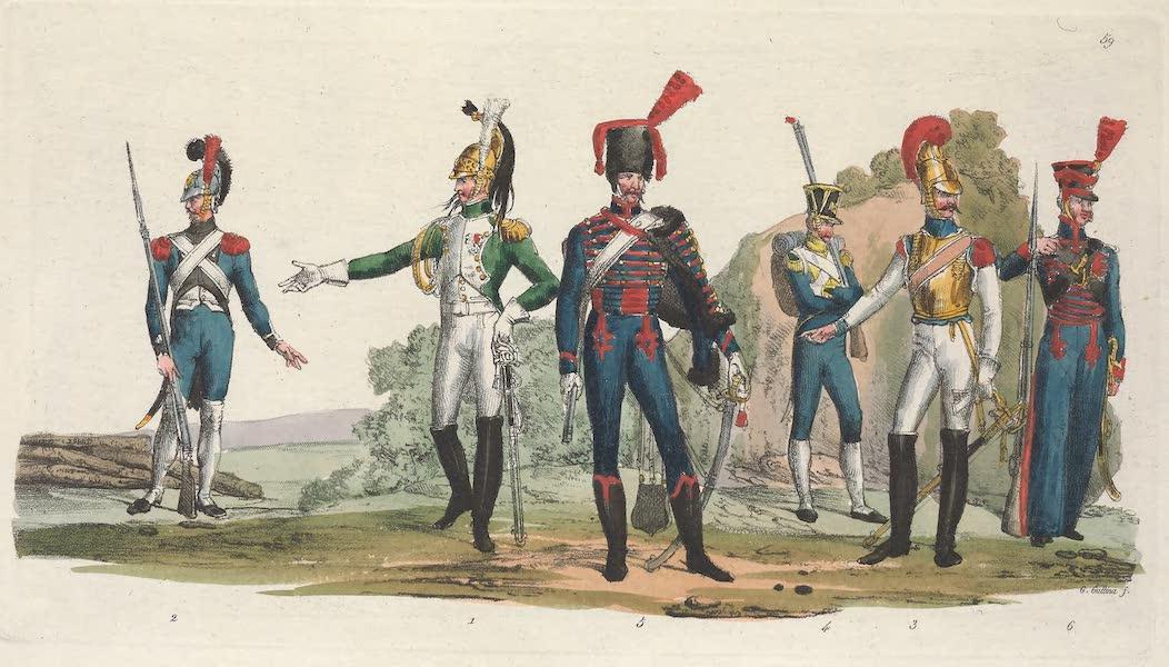 Le Costume Ancien et Moderne [Europe] Vol. 5 - LIX. Un officier des dragons, un marechal, un pionnier etc. (1825)