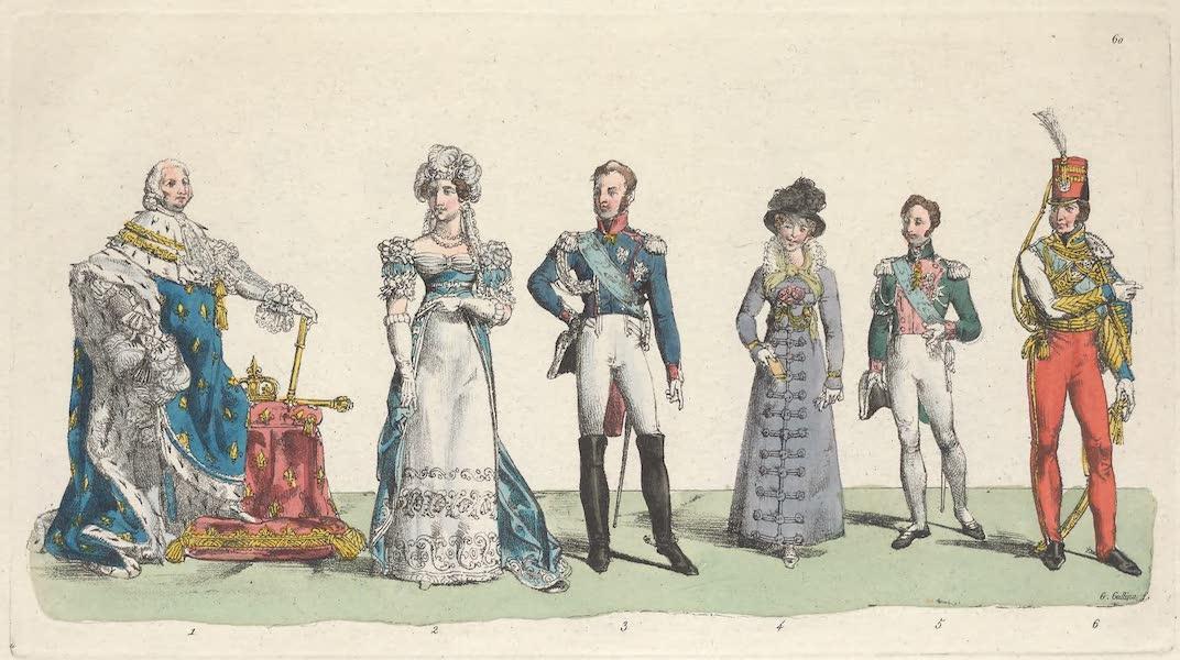 Le Costume Ancien et Moderne [Europe] Vol. 5 - LX. Louis XVIII, la duchesse d'Angouleme, le Comte d'Artois (1825)