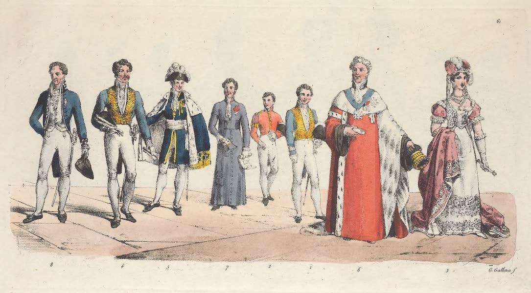 Le Costume Ancien et Moderne [Europe] Vol. 5 - LXI. Premier Gentilhomme de cour, un page, une dame etc. (1825)