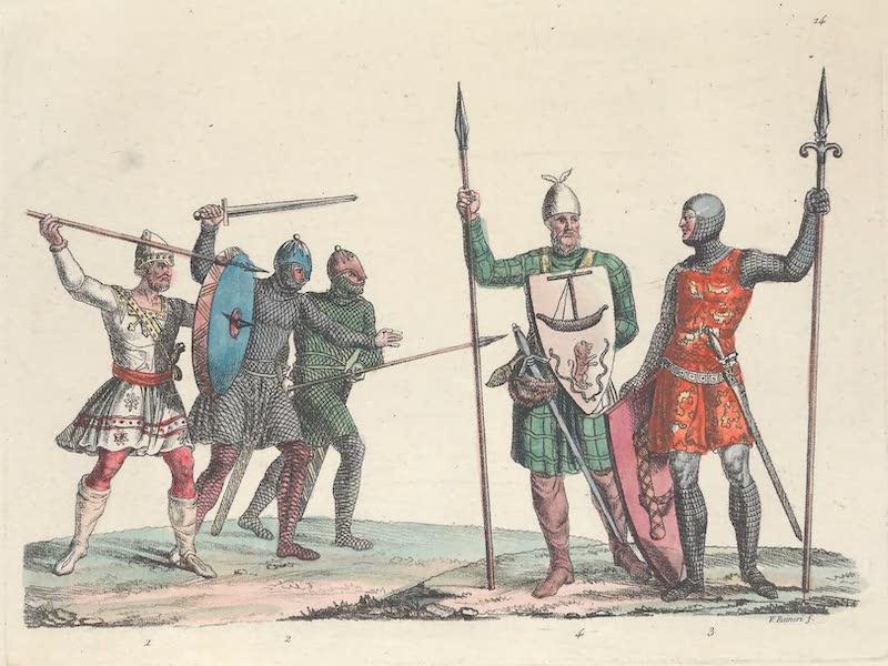 Le Costume Ancien et Moderne [Europe] Vol. 6 - XIV. Guerriers Anglo-Saxons (1827)