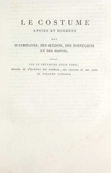 Title Page - Le Costume des Scandinaves, Suedois, Norvegiens et Danois