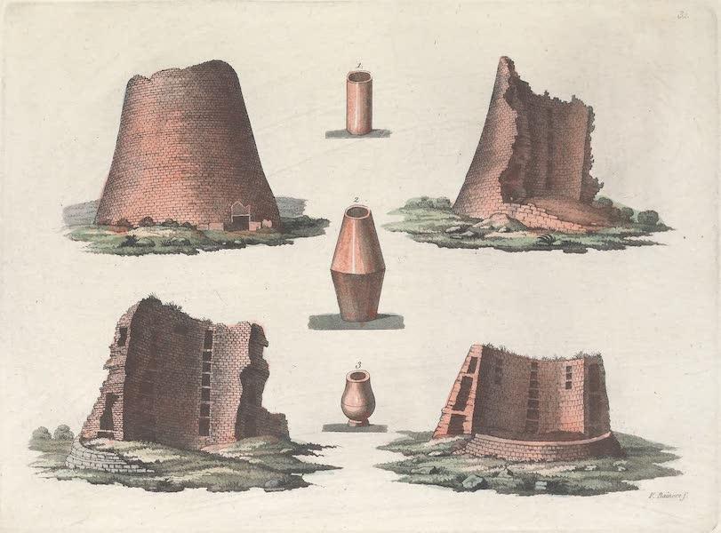 XXXII. Anciens monumens Scandinaves au nombre de 4 : Nos. 1, 2 et 3, Urnes cineraires des tombeaux