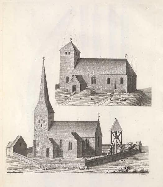Le Costume Ancien et Moderne [Europe] Vol. 6 - XXXV. No. 1 Ancien temple de Vakshal : No. 2. temple dit Danmark de l'an 1161 (1827)