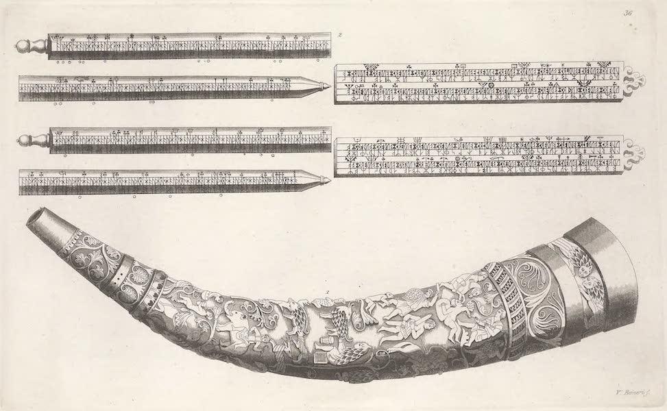 XXXVI. No. 1 cor historie du musee de Wormius, et tablettes runiques
