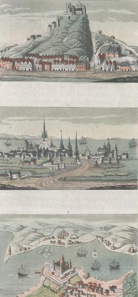 L. Vue de Copenhague avant la fin du dernier siecle. Vue de la ville et forteresse de Segeberg. Vue du Sund.