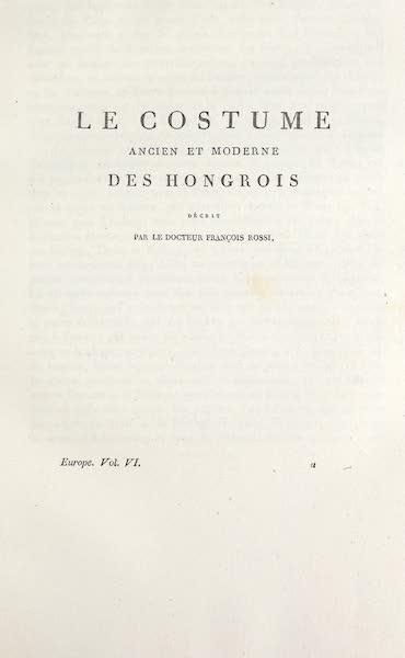 Title Page - Le Costume des Hongrois