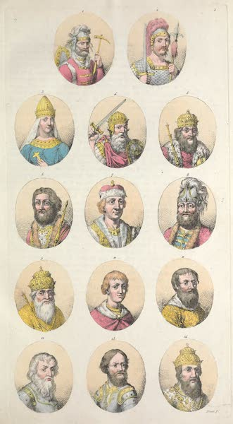II. Portraits des principaux souverains : Rurik, Igor, Olga etc.