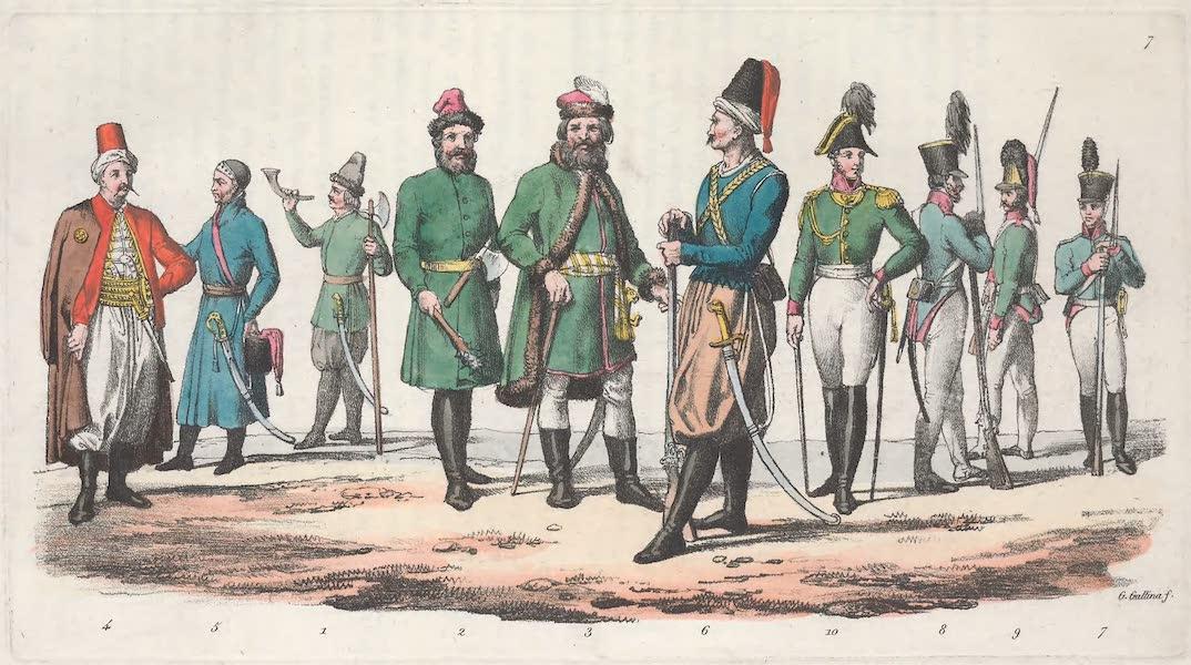 VII. Strelitz, Garde Polonaise, Valaque, eleve du corps des cadets etc.